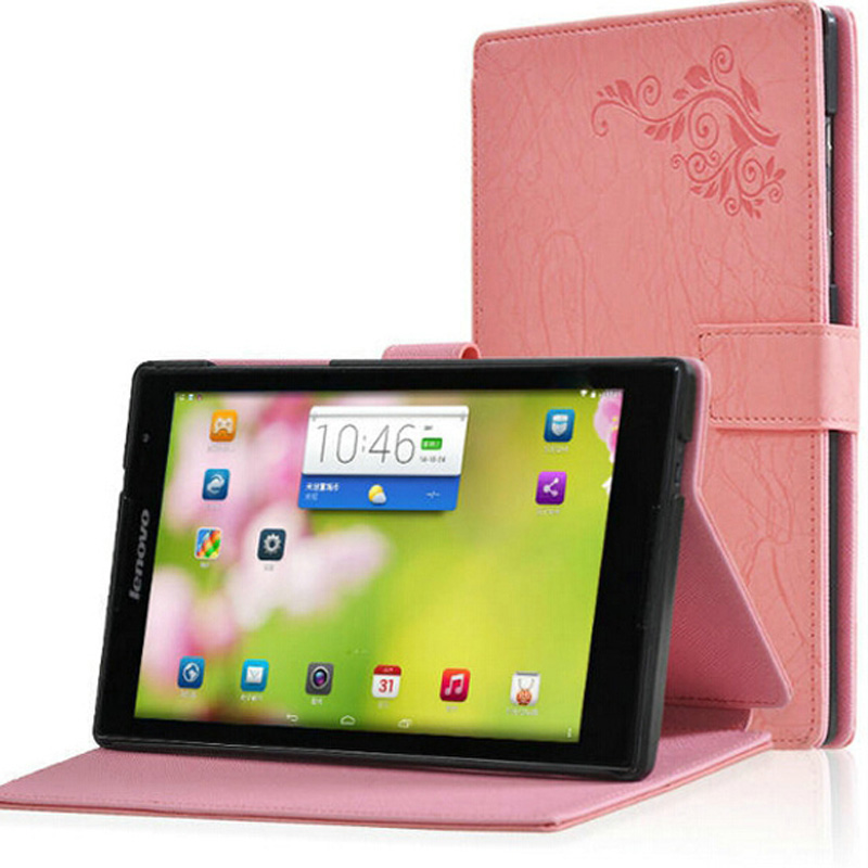 ocube Luxury Printing Pattern Folio Cover With Stand PU Flower Leather Case Cover For Lenovo TAB