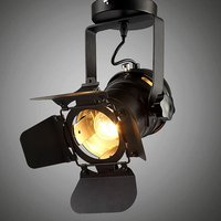 Industrial Lift Ceiling Lamp Bar Clothing Personality Retro Track Light Vintage Absorb Dome Light With E27