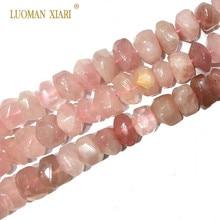Бусины из 100% натурального камня, розовый кварцевый кристалл, бусины для изготовления ювелирных изделий, браслетов, ожерелий, Размер 9 14 мм, нитка 15 дюймов
