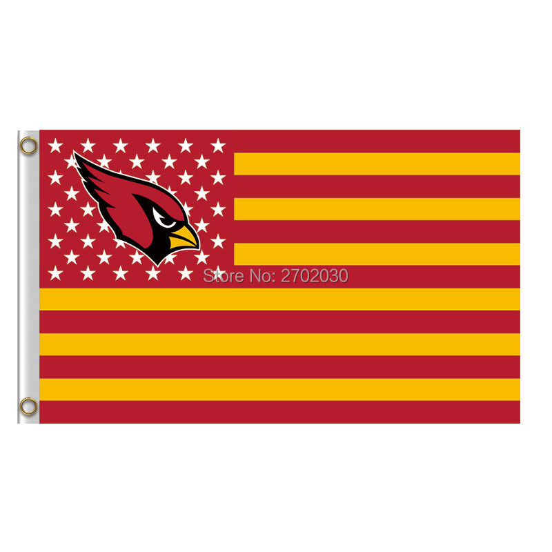 Arizona Cardinals Us Flag America World Series Fan Super Bowl Bruce Arians Custom Football Team Arizona Cardinals Banner Flag