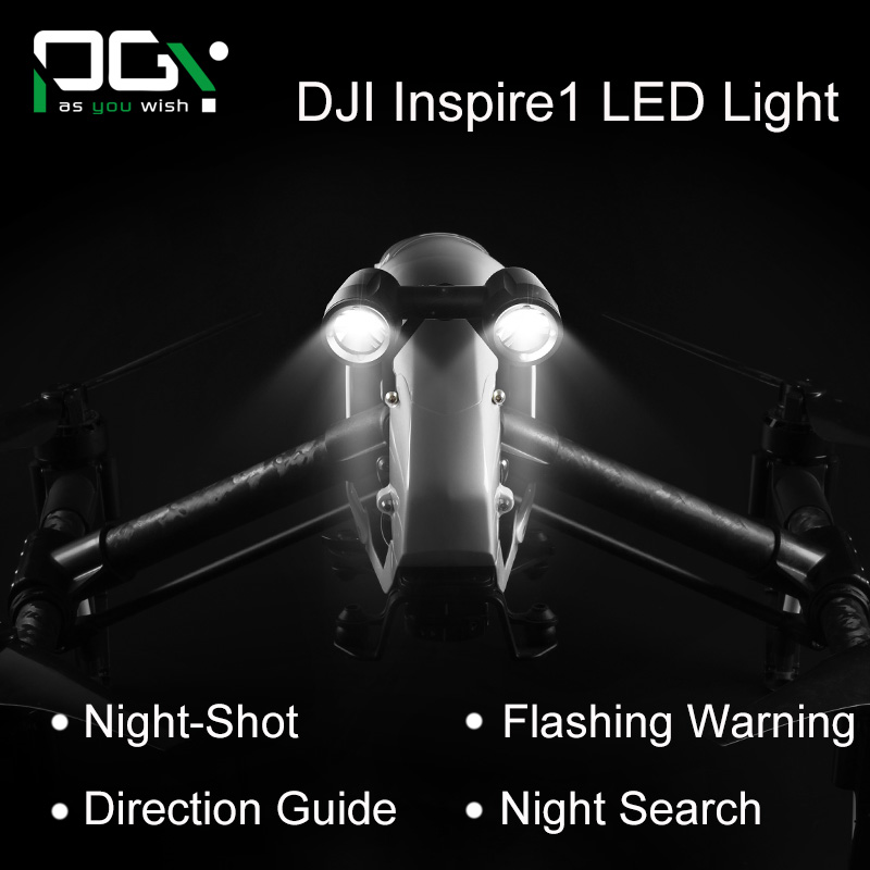 PGY DJI inspire 1 Accessories headlamp Super Brigh LED light Searchlight Drone Flash Lights Warning drone