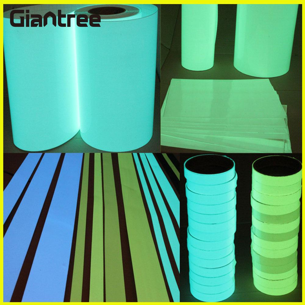 Glow Tape 3cmx1m Guidepost Durable Luminous Tape 5 Color Fluorescent Safety Sticker Wall Stickers PVC double layer luminous 3d butterfly wall stickers