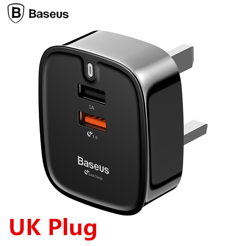 Baseus USB Charger Quick Charge 3.0 Turbo Wall Charger UK Plug QC3.0 Fast Travel Charger For Samsung Tablet Charger