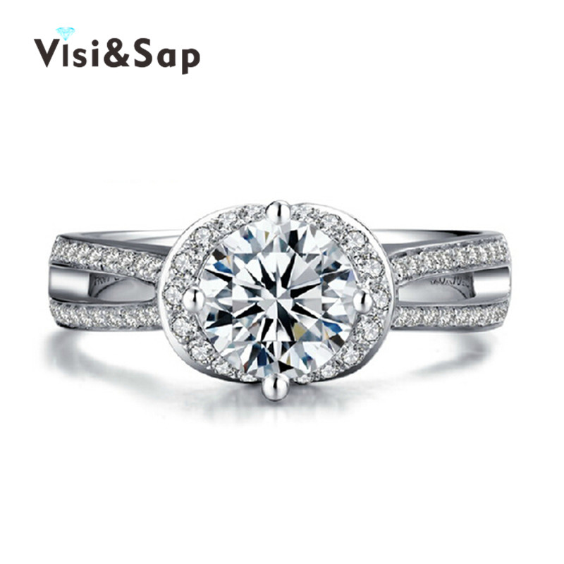 ∞Visisap Luxury Lady Ring Wedding bands vintage rings for women ...