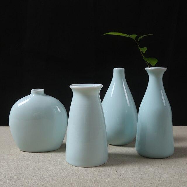 Vase Guci Wedding Decoration Celadon Ceramic Vase Decorative Vase Set Small  Ornaments Cute Mini Fresh Flower