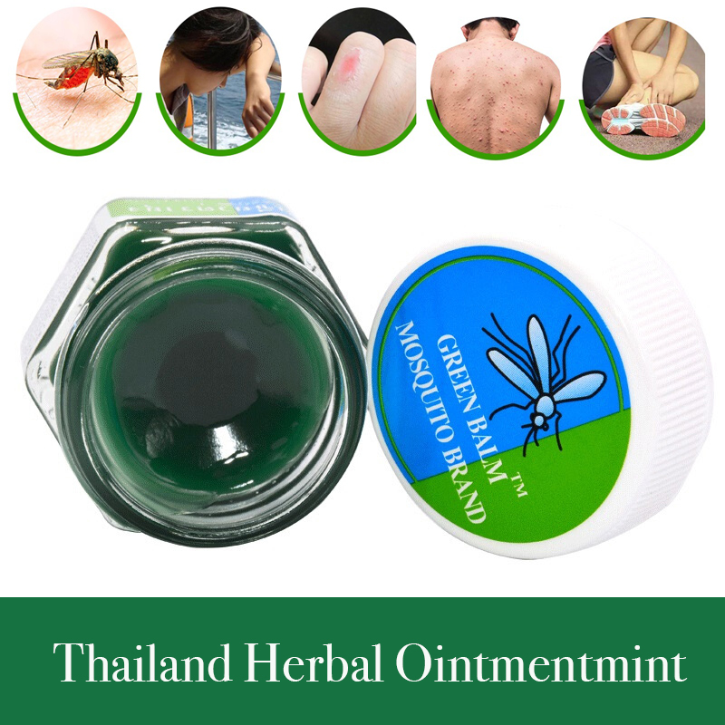 Thai Thailand Herbal cream Green Ointmentmint analgesic antipruritic anti-dizziness Buddha itch products mosquito