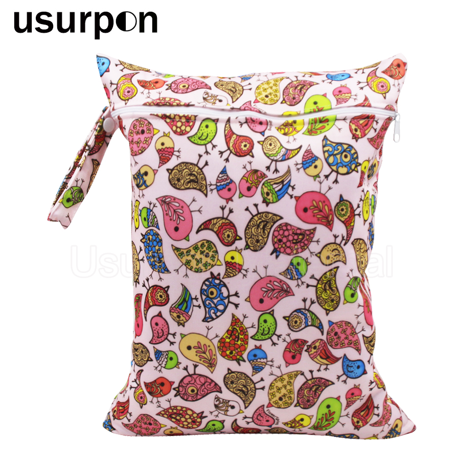 [usurpon] 1 pc 30*40cm reusable baby diaper dry bag waterproof single zipper wet bag and diaper bag томас майн рид огненная земля