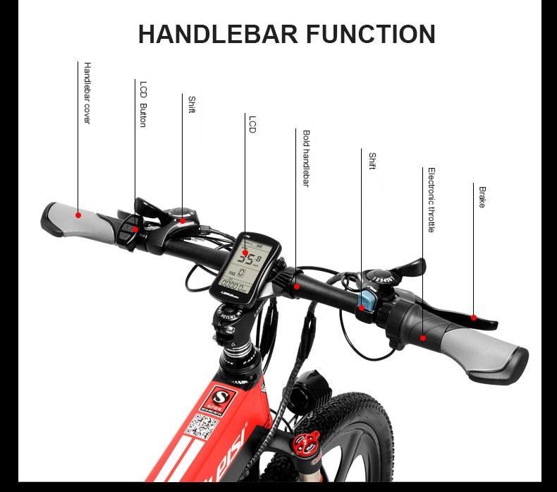 HTB1SR fXIfrK1RkSmLyq6xGApXaE - 26inch electric mountian bicycle folding  frame 48V  lithium battery hidden frame 400w high speed motor range 60-100km