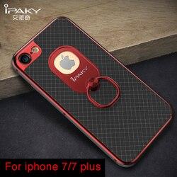 Pour iPhone 7 étui d'origine marque iPaky anneau boucle support pour téléphone étui pour iPhone 7 Plus étui pour iPhone 7 7 plus étuis
