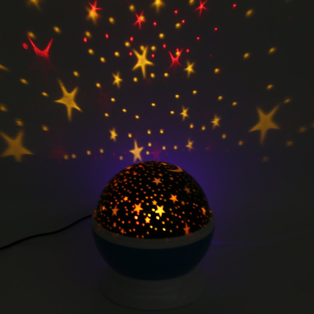USB Romantic Star Sky Rotating Projector Night Light with Remote Control Bedside Lamp for Christmas Birthday Gift Home Decor