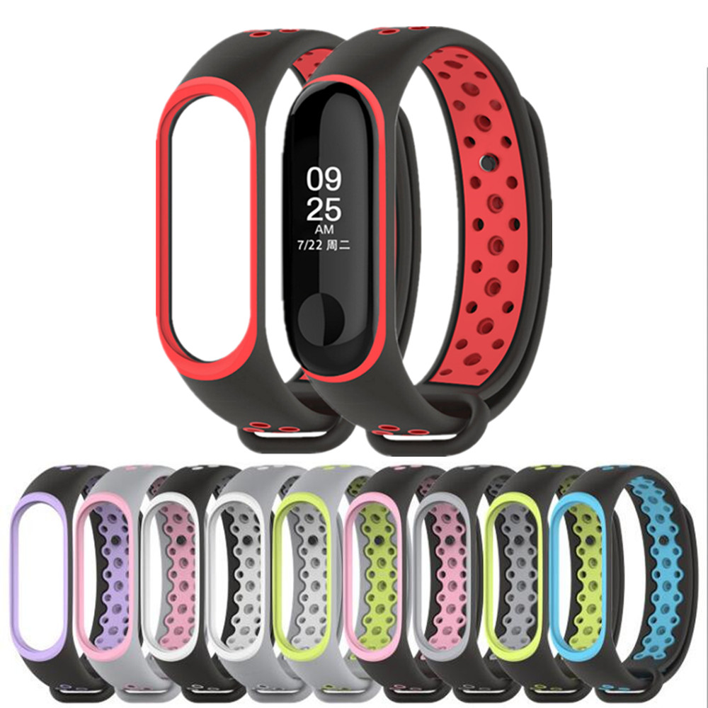 NEW Mi Band 3 Strap Bracelet wrist strap watch Mi band3 accessories for Xiaomi mi band 3 smart bracelet sport Silicone miband3 new mi band 3 bracelet wrist strap mi band3 smart band strap miband3 wristband black metal for xiaomi mi band 3 strap