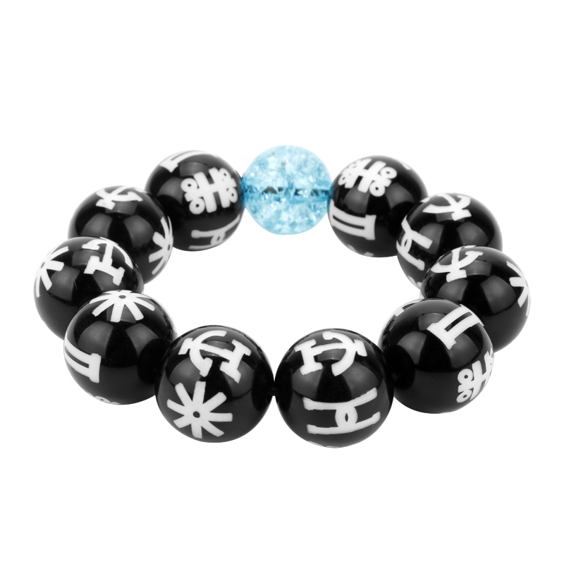 Black Panther KIMOYO Bracelet Beads Wakanda T'Challa Cosplay Jewelry Women/Men Props With Crystal Bracelet Party Accessories