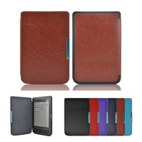 Solque PU Leather Magnet Flip Cover For Pocketbook 615 EBook Case For Pocket Book 615 Cover