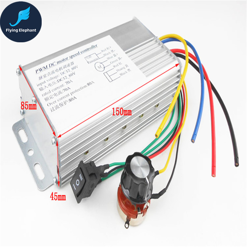 Forward rotation reversing two-way motor governor down switch 12v24v36v industrial brush motor drive 70A 80A forward forward command aw15 hooded down jacket