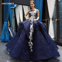 J66757 Jancember голубое платье Quinceanera 2020 Бальные платья без рукавов с аппликацией и рюшами с открытой спиной vestidos dulces 16 платье фатин 2020