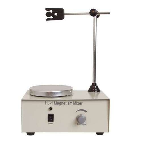 HJ-1 Laboratory Magnetic Stirrer Plate 2400RPM with Holder Magnetism Mixer, Lab Stirrer mixer Magnetic Stirrer with heating plat free shipping 7 15 mm ptfe magnetic stirrer mixer stir bar with pivot ring white color