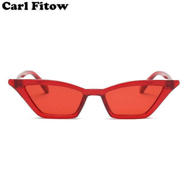 Vintage gafas de sol de las mujeres del ojo de gato de lujo de la marca diseñador gafas de sol Retro pequeño rojo señoras gafas negro gafas