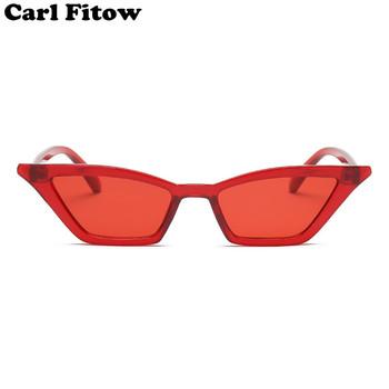 Vintage okulary przeciwsłoneczne kobiety kot oko Luksusowa marka Projektant słońce okulary retro małe czerwone Panie Sunglass Black okulary oculos tanie i dobre opinie Sunglasses do 28 mm DSLK13 UV400 Gradient Poliwęglan 50 mm Plastikowe Carl Fitow Dorosłych