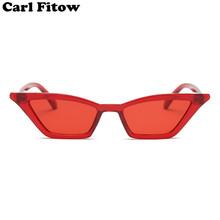 Vintage okulary przeciwsłoneczne kobiety kot oko Luksusowa marka Projektant słońce okulary retro małe czerwone Panie Sunglass Black okulary oculos tanie tanio Sunglasses do 28 mm DSLK13 UV400 Gradient Poliwęglan 50 mm Plastikowe Carl Fitow Dorosłych
