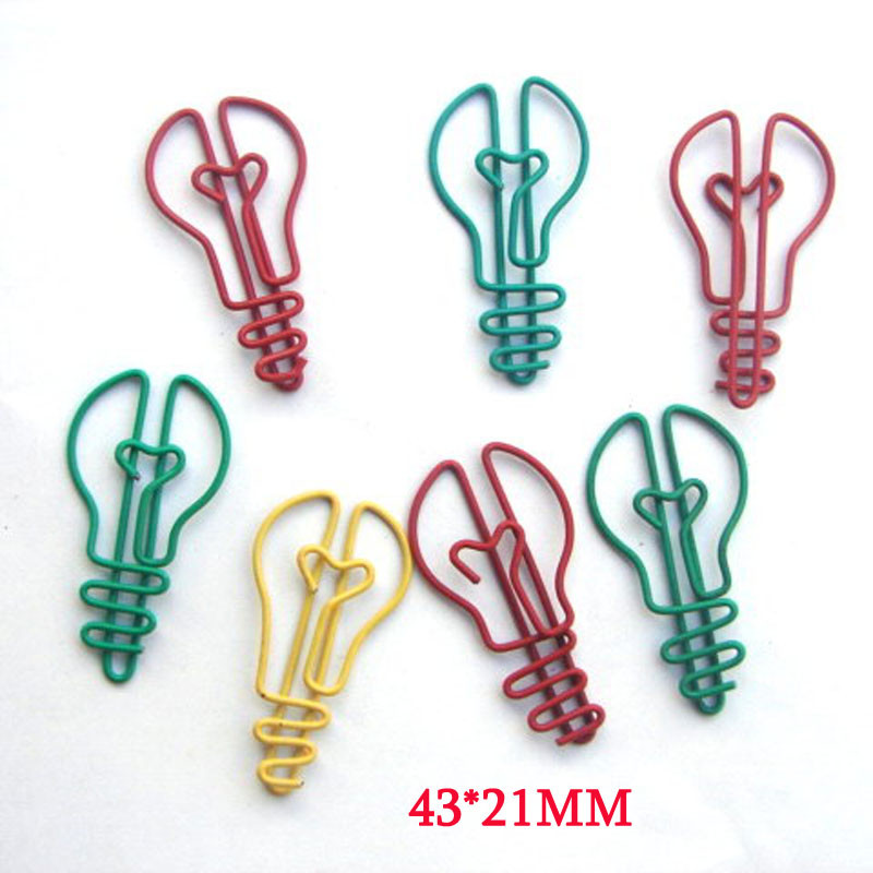 Light Bulb Shaped Paper Clips [ 100 Piece Lot ] 1
