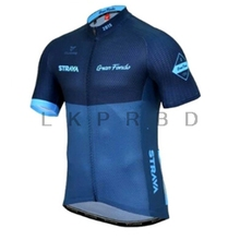 2019 STRAVA Mens short sleeve cycling jerseys Wave point Bike Clothing shirts MTB Quick dry Bicycle Wear Ropa Ciclismo Quick-dry