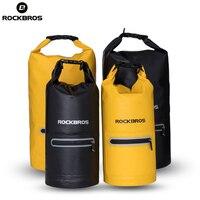 ROCKBROS 10L 20L Waterproof Bike Bicycle Bags Foldable Cycling Bags Mtb Storage Package Panniers Rainproof Bike