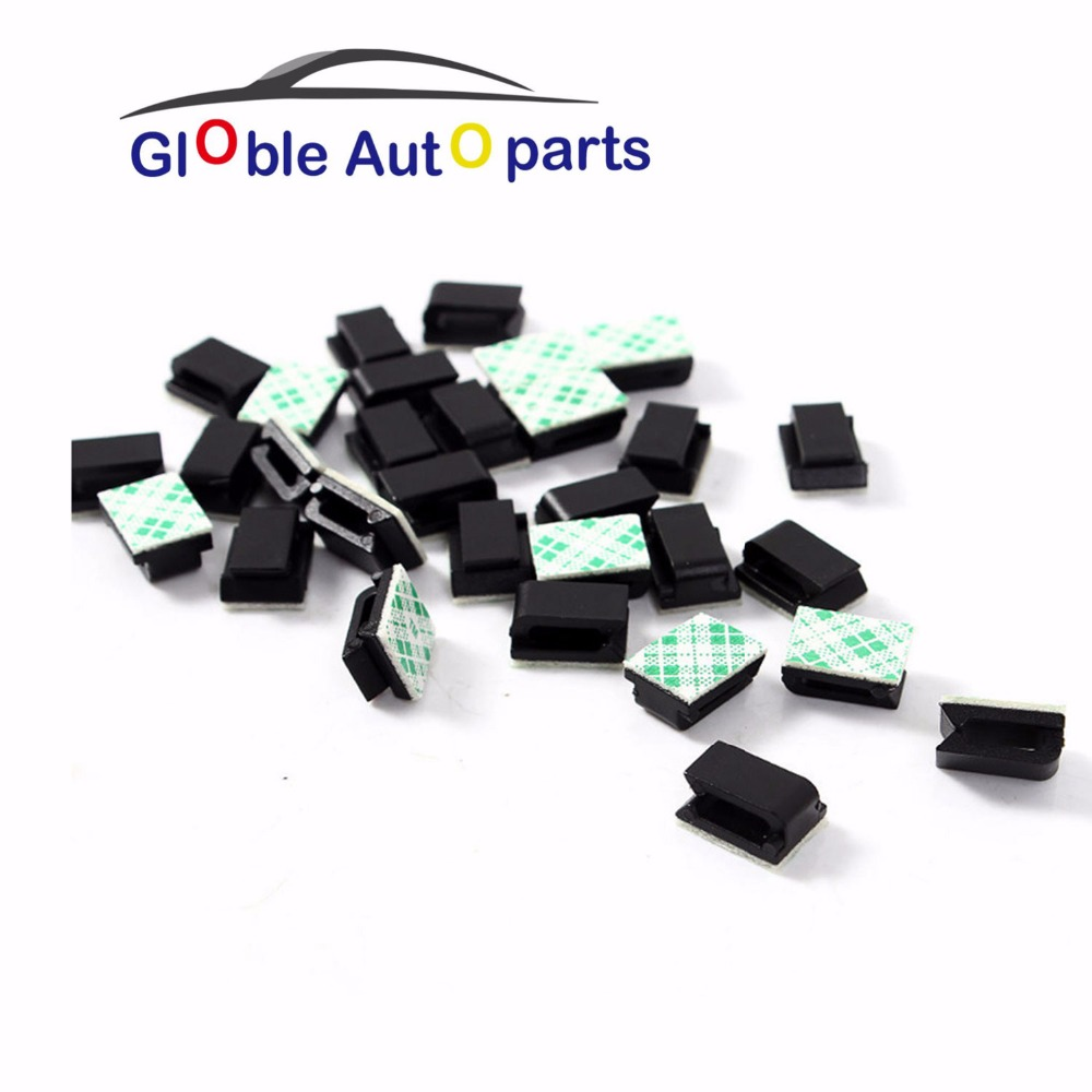 Hot Sale 30PCS Car Sticker Self adhesive Rectangle Wire Tie Cable ...