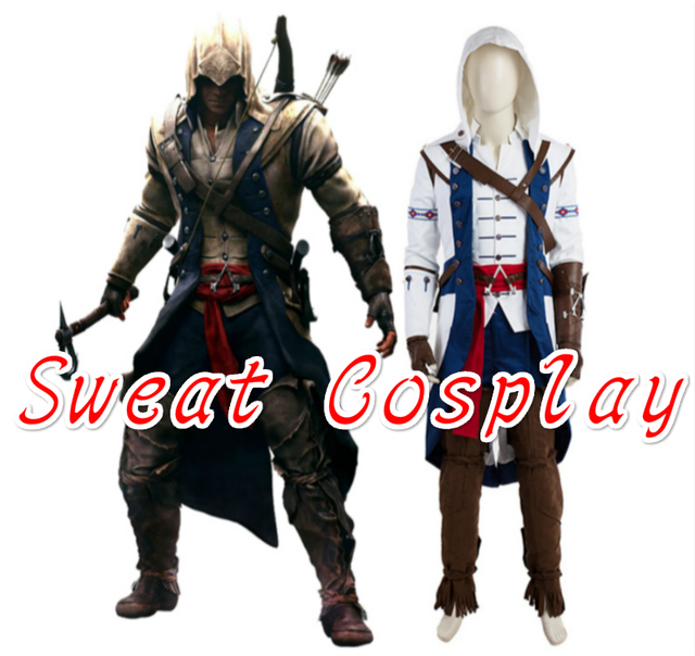 high quality assassins creed iii connor kenway costume halloween costumes for adult men assassins creed cosplay