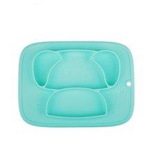 Baby Tableware Dishes Safety Silicone BPA Free Infant Feeding Dinner Plate Bowl For Kid