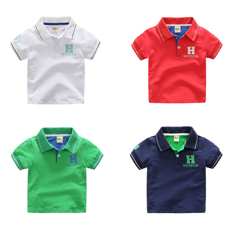 Children's short sleeved T-shirt boy polo shirt coat kids 2017 new summer baby T-shirt short sleeve