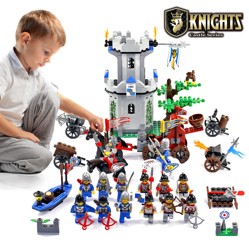 Enlighten Knights Educational Building Blocks Toys For Children Gifts Castle Knight Heros Weapon Boat Gun Horse Compatible Legoe enlighten military educational building blocks toys for children gifts army cars aircraft carrier weapon compatible with legoe