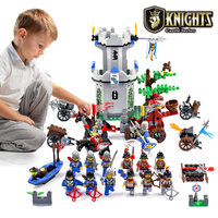 Enlighten Knights Educational Building Blocks Toys For Children Gifts Castle Knight Heros Weapon Boat Gun Horse