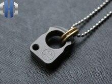 EDC Titanium Pendant Car Keychain Knife Necklace