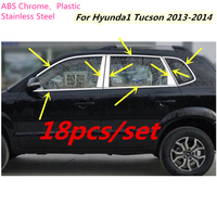High Quality Car Styling Stick Stainless Steel Glass Window Garnish Pillar Middle Column Trim Hoods For