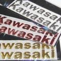Barato de la motocicleta del coche decoración coche Kawasaki logo Sticker Decal 3D suave lente moto pegatinas reflectantes gratuito