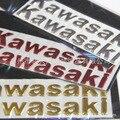 Barato decoração do carro da motocicleta Kawasaki Etiqueta do logotipo Do Decalque do carro 3D suave lente da motocicleta adesivos refletivos frete grátis