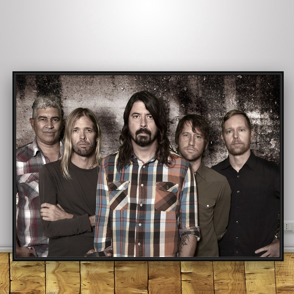 Foo Fighters Art Silk Poster Home Decor 12x18 24x36inch image