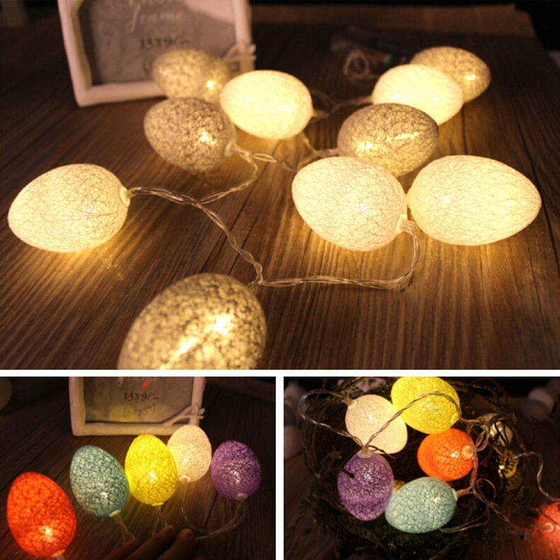 Led Warm White Cute Colorful Egg String Light Chicken Lamp Balcony