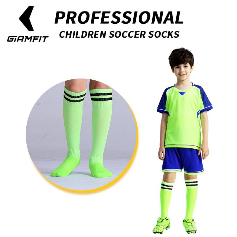 JIANFEI  Professional Kids Sports Soccer Socks Anti Slip Football Running Long Stocking Over Knee High Quality Elastics Socks