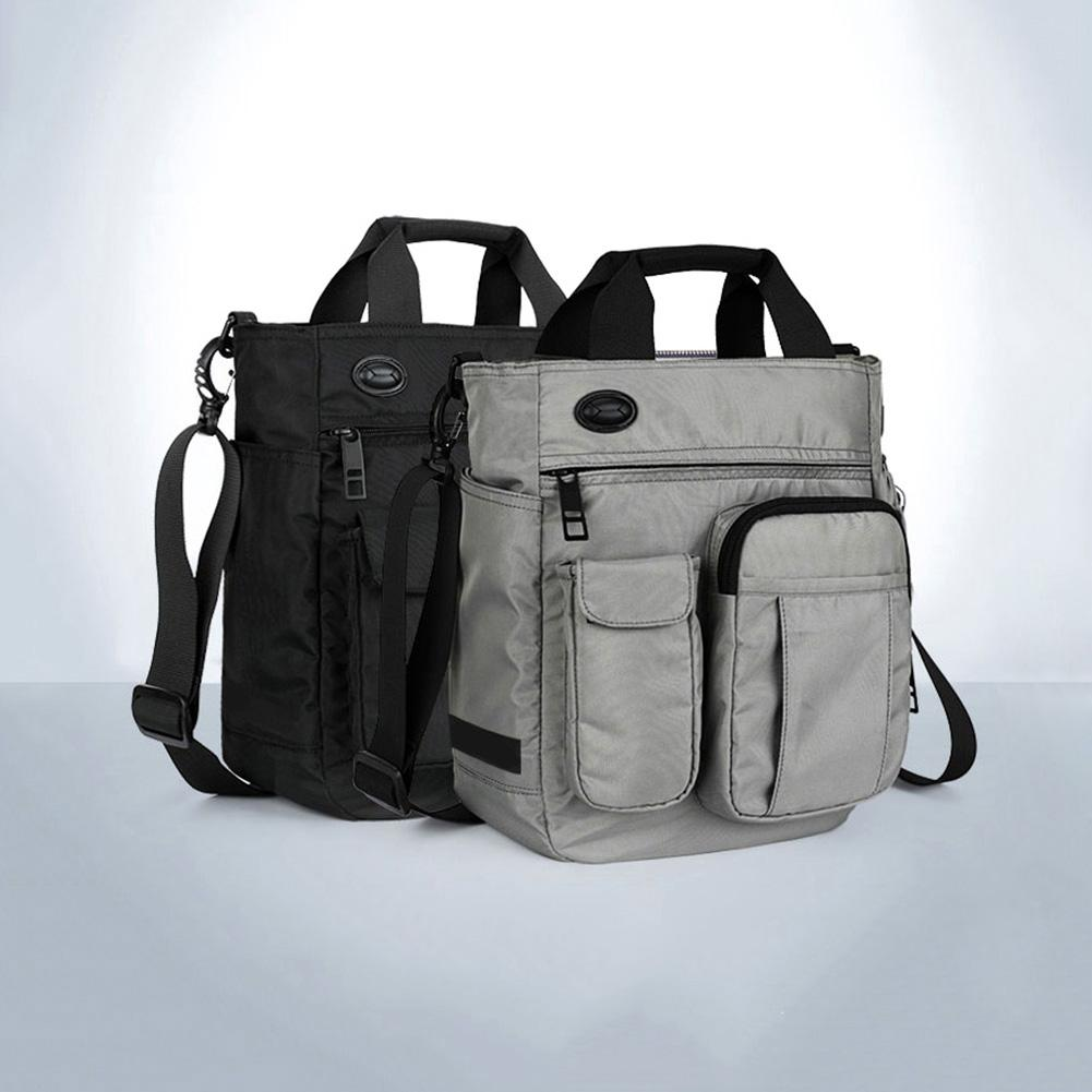 Business Men Multi Pocket Zipper Tote Briefcase Crossbody Shoulder Laptop Bag