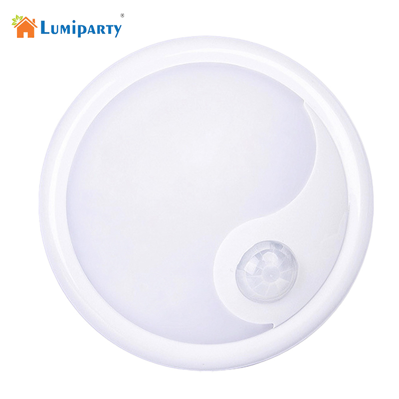 LumiParty LED Night Light Infrared IR Bright Motion Sensor Lamp Activated Wall Lights Auto On Off Battery Operated motion sensor led night light smart human body induction nightlight auto on off battery operated hallway pathway toilet lamps