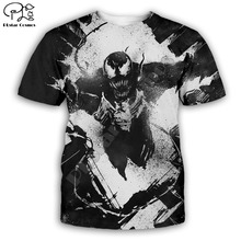 PLstar Cosmos t shirts summer shorts sleeve mens/womens t-shirt hip hop top tees boy Venom 3D printed
