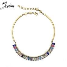 JOOLIM Jewelry Wholesale/Colorful Choker Necklace Fashion For Women