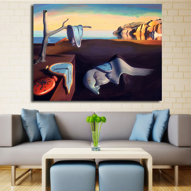 Abstract Painting Salvador Dali Surrealism Canvas Art Wall Posters Photos Prints For Living Room Home