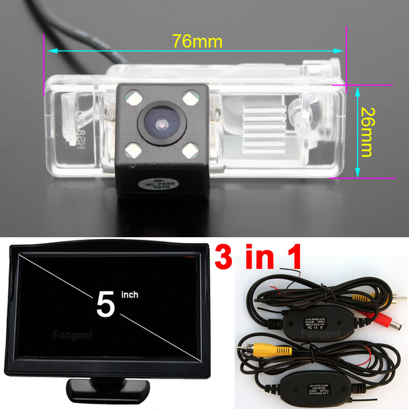 Fongent Parking Reverse Back Up Off Rear View Wireless font b camera b font Monitors for