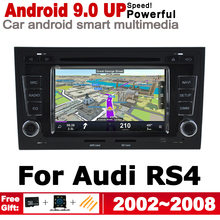 IPS Android 2 DIN Car DVD GPS For Audi A4 RS4 8E 2002~2008 MMI Navigation Multimedia Player Stereo Radio WiFi System Radio BT SD red line superior 3 usb white