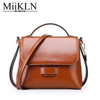 MiiKLN маленькая сумка мессенджер с клапаном сумки из коровей кожи женские сумки из натуральной кожи через плечо женская сумка прочная на молн