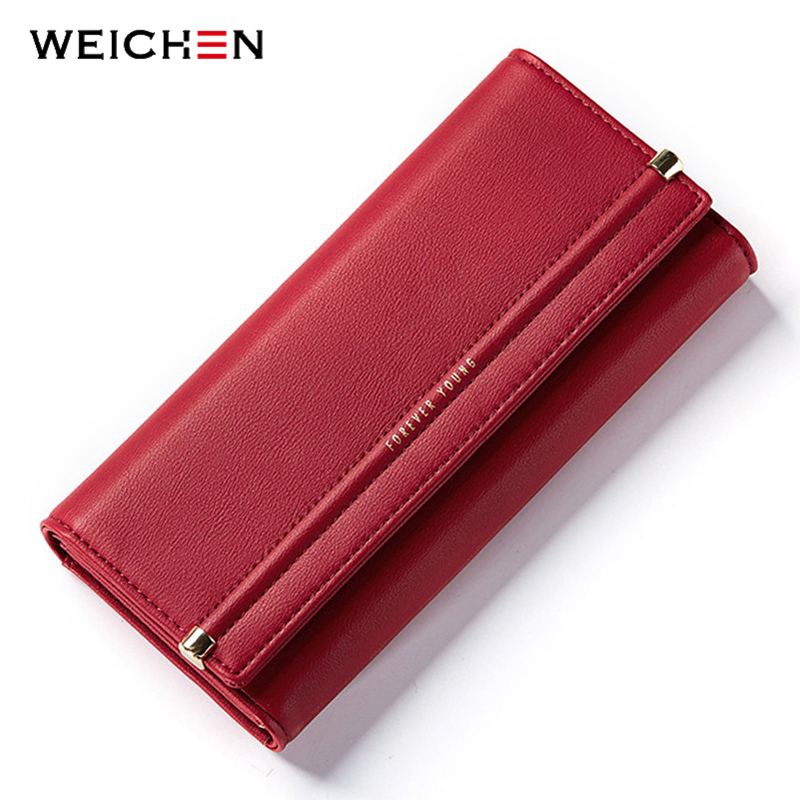 WEICHEN New Design Cell Phone Coin Pocket Money Purse Solid Hasp Long Women Wallet Ladies Card Photo Holder Wallets Lady Bag 2017 brand solid fashion women leather alligator hasp long wallet coin pocket card money holder clutch purse wallets evening bag