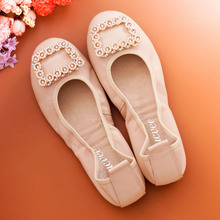 2017 Spring women flats shoes women genuine leather shoes woman cutout loafers slip-on ballet flats boat shoes