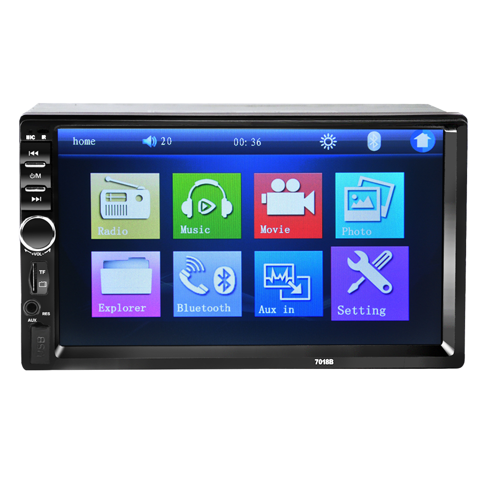 2 DIN Car Radio Car Audio Stereo Player auto Bluetooth V2.0 Handsfree Touch Screen MP4 <font><b>MP5</b></font> USB FM AutoRadio with Remote Control image